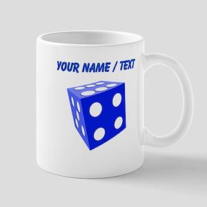 Custom Blue Dice Mugs