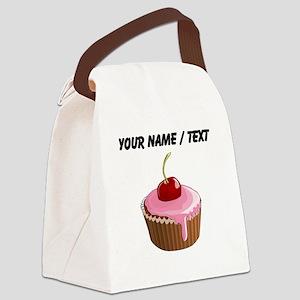 Custom Cherry Cupcake Canvas Lunch Bag