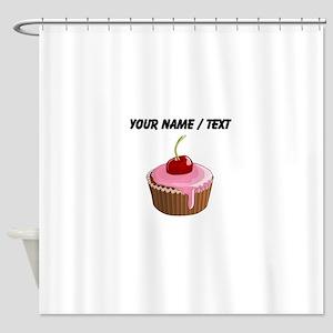 Custom Cherry Cupcake Shower Curtain