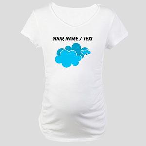 Custom Blue Clouds Maternity T-Shirt