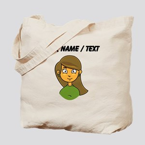 Custom Cartoon Girl Tote Bag