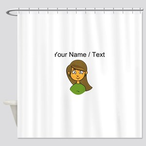 Custom Cartoon Girl Shower Curtain