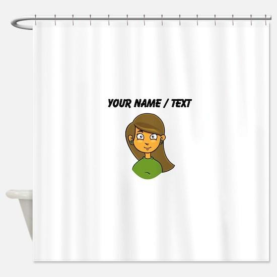 Custom Cartoon Girl Shower Curtain