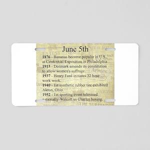 June 5th Aluminum License Plate