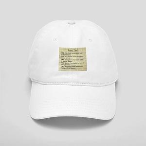 June 2nd Baseball Cap