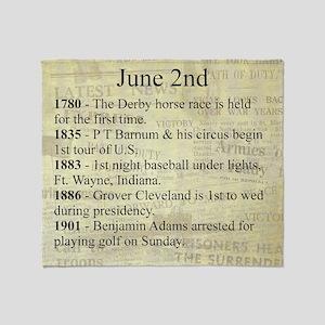 June 2nd Throw Blanket