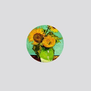Van Gogh - Sunflowers (three) Mini Button
