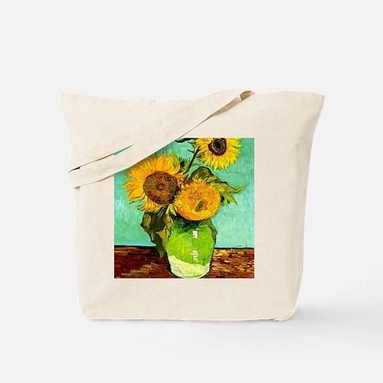 Van Gogh - Sunflowers (three) Tote Bag