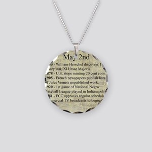 May 2nd Necklace Circle Charm