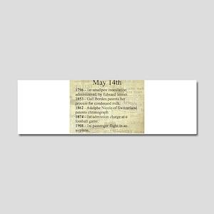May 14th Car Magnet 10 x 3