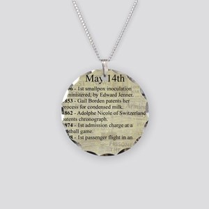 May 14th Necklace Circle Charm