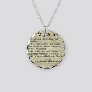 May 26th Necklace Circle Charm