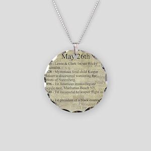 May 26th Necklace Circle Charm