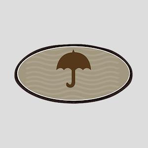 Chocolate Umbrella Waves Patches