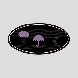 Purple Umbrella Black Patches