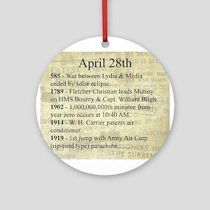 April 28th Ornament (Round)