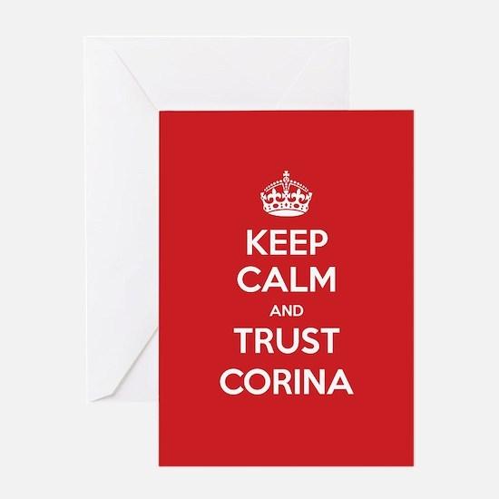 Trust Corina Greeting Cards