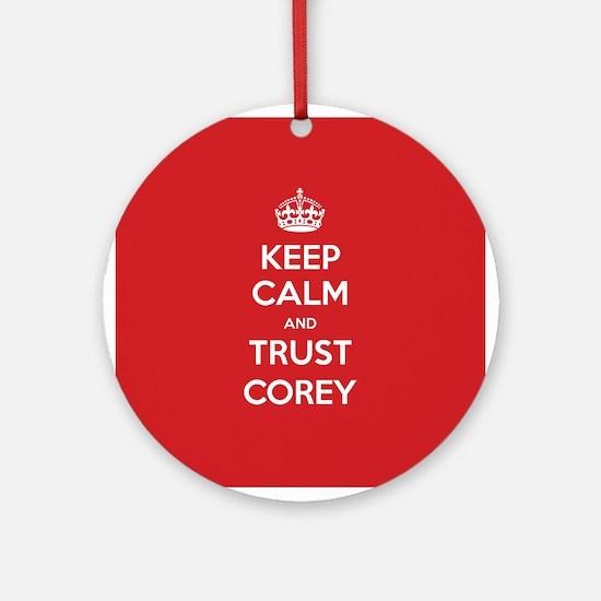 Trust Corey Ornament (Round)