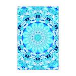 Aqua Lace Abstract Mini Poster Print