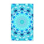 Aqua Lace Abstract 20x12 Wall Decal