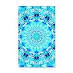 Aqua Lace Abstract 35x21 Wall Decal