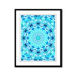 Aqua Lace Abstract Framed Panel Print