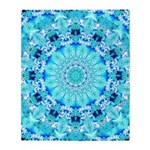Aqua Lace Abstract Throw Blanket
