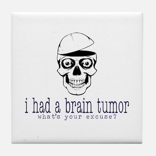 Brain Tumor Excuse Tile Coaster
