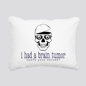 Brain Tumor Excuse Rectangular Canvas Pillow