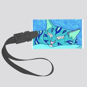 Water Cat Large Luggage Tag