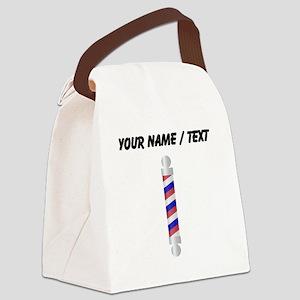 Custom Barber Pole Canvas Lunch Bag