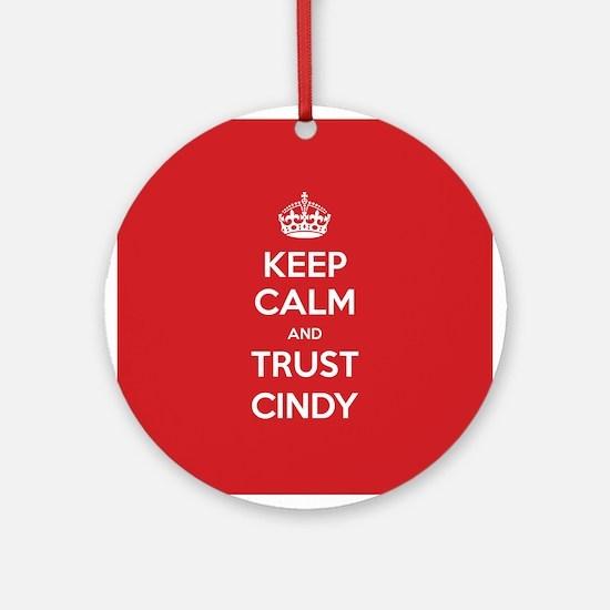 Trust Cindy Ornament (Round)