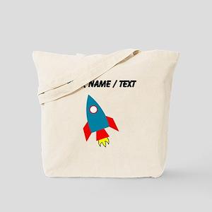 Custom Cartoon Rocket Ship Tote Bag