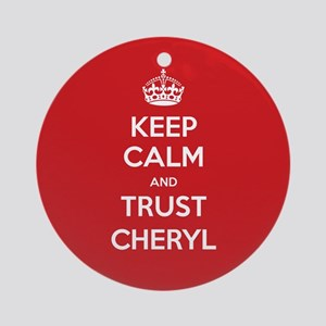 Trust Cheryl Ornament (Round)