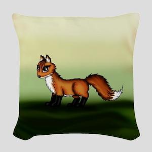 cute Fox Woven Throw Pillow