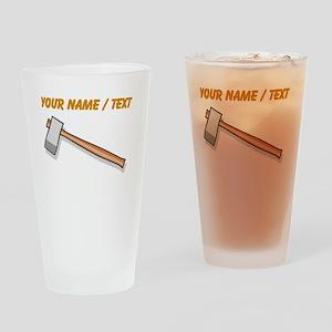 Custom Axe Drinking Glass