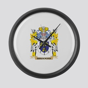 Brickmann Coat of Arms - Family C Large Wall Clock