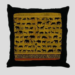 Wild Animals Throw Pillow