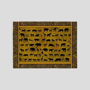 Wild Animals 5'x7'Area Rug