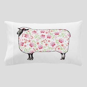 Floral Sheep Pillow Case