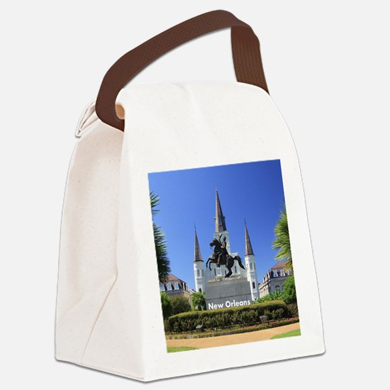 New Orleans Canvas Lunch Bag