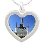 New Orleans Silver Heart Necklace
