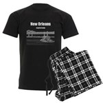 New Orleans Men's Dark Pajamas