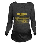 New Orleans Long Sleeve Maternity T-Shirt