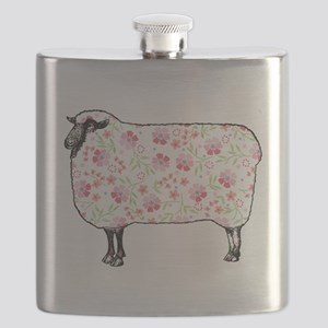 Floral Sheep Flask