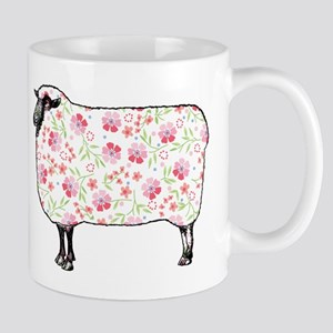 Floral Sheep Mugs