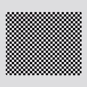 Black and White Checkerboard Throw Blanket