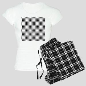 Black and White Checkerboar Women's Light Pajamas