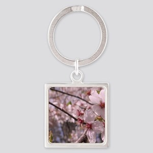 Cherry Blossoms Square Keychain