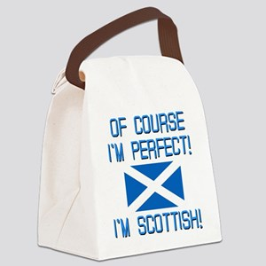 I'M PERFECT I'M SCOTTISH Canvas Lunch Bag